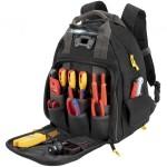Sac à dos pour outils, avec éclairage LED